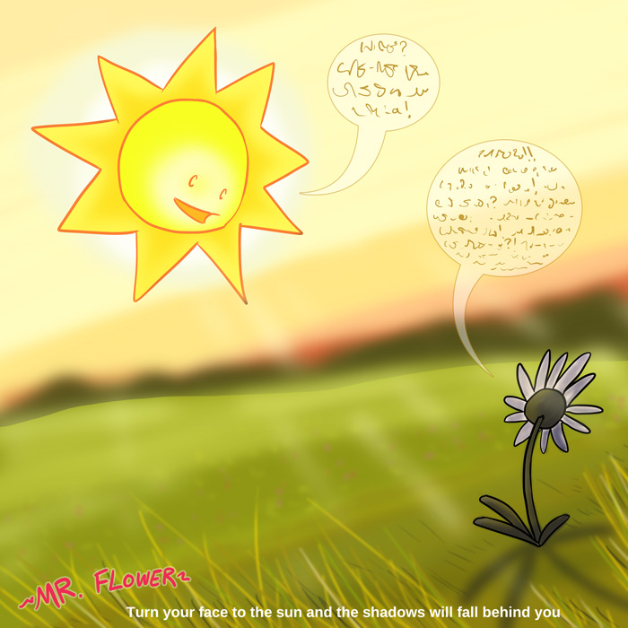 A flower and sun